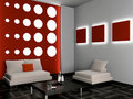 Free Living Room 3D Royalty Free Stock Photography - 17178107