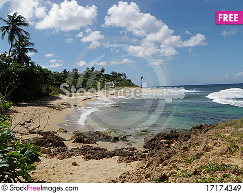 Free Tropical Puerto Rico Coast Royalty Free Stock Images - 17174349