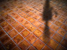 Free Square Red Tiles Floor Stock Images - 17170074