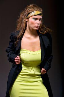Free Beautiful Woman In Fashion Dress Posing Royalty Free Stock Photos - 17170788
