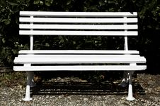 Free White Bench Royalty Free Stock Photos - 17171618