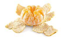 Peeled Mandarin Stock Photos