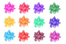 Free A Set Of Colored Ribbons For Gifts Stock Photo - 17171720
