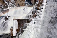 Cascade On Dam Royalty Free Stock Photos