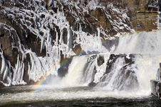 Cascade On Dam Stock Images