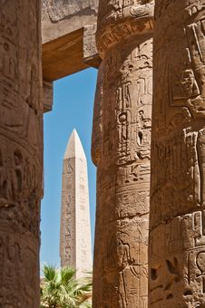 Obelisk In Karnak Royalty Free Stock Image