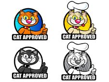 Free Cat Approved Seals Set Stock Photography - 17173172