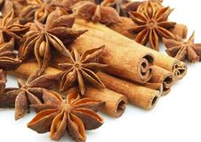 Free Anise And Cinnamon Royalty Free Stock Photos - 17173188