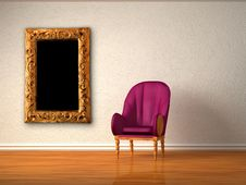 Free Alone Luxurious Chair With Modern Frame Royalty Free Stock Photography - 17173577
