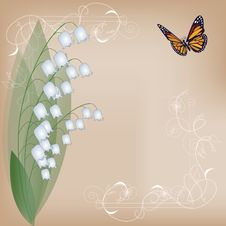 Free Card With Lilies Of The Valley Stock Image - 17173601