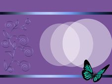 Free Card With The Butterfly Stock Images - 17173614
