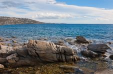 Rocks And Stones At The Blue Sea Stock Photography