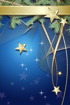 Free Blue Christmas Background Stock Photos - 17173873
