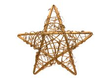 Free Golden Christmas Star On White Background Stock Images - 17173914