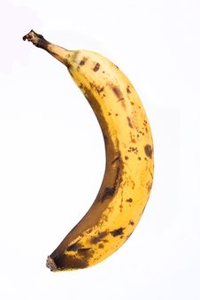Free Banana With Brown Spots Stock Photo - 17174050
