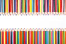 Free Crayons On White Background Royalty Free Stock Images - 17174369