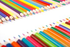 Free Crayons On White Background Royalty Free Stock Images - 17174389