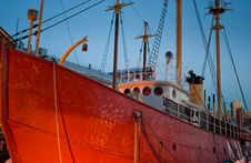 Red Ship Royalty Free Stock Photography