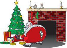 Free Santa Rips Pants Royalty Free Stock Photography - 17175217