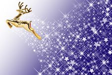 Free Golden Deer And Star Shape Background Stock Images - 17175334