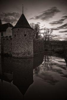 Misterious Castle Hallwil Stock Photos