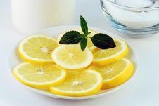 Lemon, Breakfast Royalty Free Stock Photo