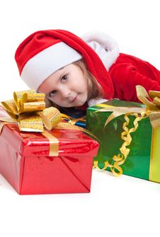 Free Lovely Little Santa With Gifts Stock Image - 17175771