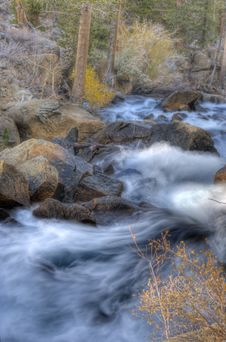 Artistic River Rapids Stock Photography