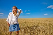 Free Woman In Wheat Field Stock Photos - 17176223