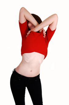 Free Girl Showing Belly. Royalty Free Stock Image - 17176226