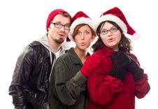 Free Three Friends Wearing Warm Holiday Attire Stock Images - 17176864
