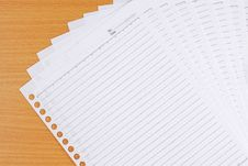 Blank Papers Stock Photos