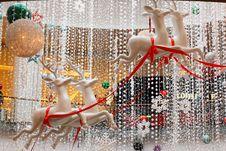 Christmas Reindeer Scenery Stock Photo