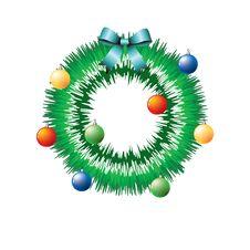 Free Christmas Wreath. Royalty Free Stock Photos - 17178628