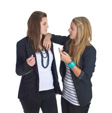 Free Two Young European Business Teenaged Girls Stock Images - 17178654