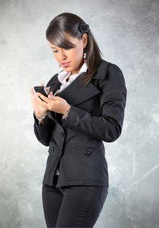 Free Woman Watch A Phone Stock Photo - 17178750