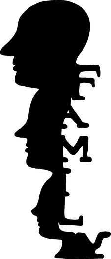 Free Abstract Black Family Heads Royalty Free Stock Image - 17179216