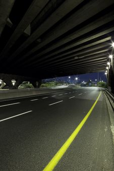 Free Highway At Night Stock Photo - 17179340
