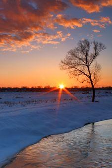 Free Dawn Snow Stock Photo - 17179350