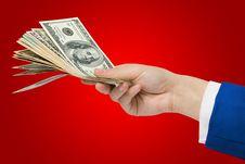 Free Dollars In Hand Stock Photo - 17179490
