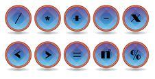 Free Blue Symbol Icon Royalty Free Stock Photo - 17179835