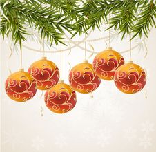 Free Red And Gold Christmas Ball Royalty Free Stock Photo - 17179855