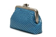 Blue Pouch Royalty Free Stock Photos