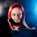 Free Red-haired Girl The Guitarist Stock Image - 17181251