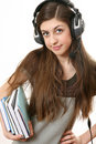 Free The Girl In Headphones Stock Images - 17181484