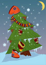 Free Christmas Tree And Winter Boots Stock Images - 17182674