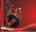Free Phonograph Record With Female Silhouette. Card Royalty Free Stock Image - 17183296