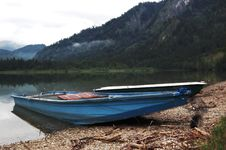 Old Rowing Boat Stock Photo