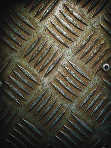 Floor Steel Plate Royalty Free Stock Photo