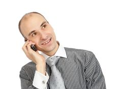 Free Handsome Young Guy Using A Mobile Phone Royalty Free Stock Photo - 17181035